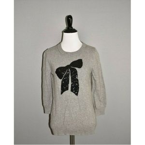 J.CREW Intarsia Charley Sweater in Sequin Bow